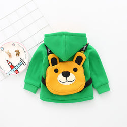 Hoodie With Bear Bag