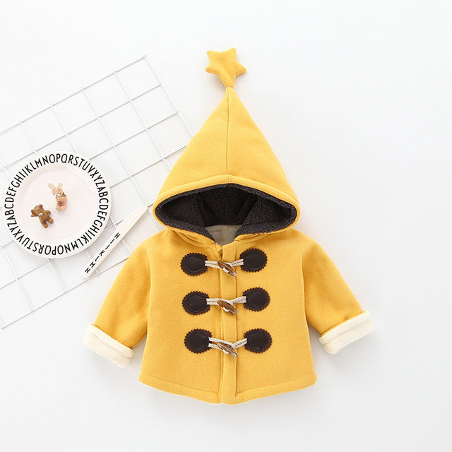 Star Hooded Trench Jacket
