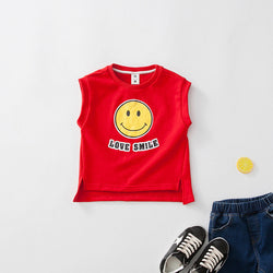 Smile Sleeveless Matching Outfit