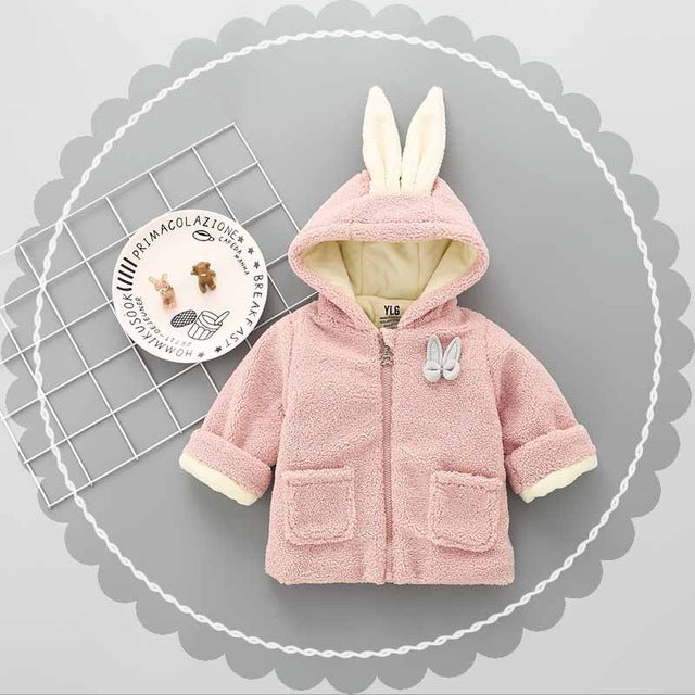 Winter Jacket With Rabbit Made on Back