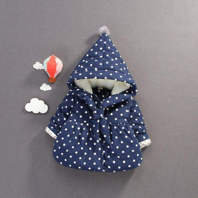 Polka Dot Hooded Jacket