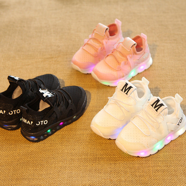 Kids Breathable LED Sneakers