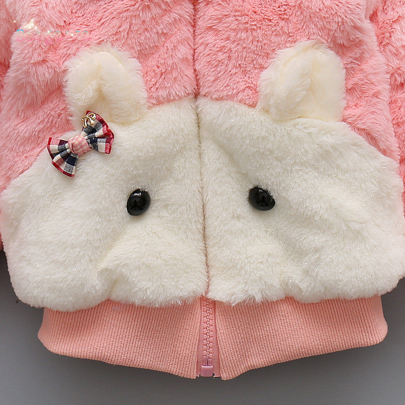 Rabbit Ear Fur Winter Jacket