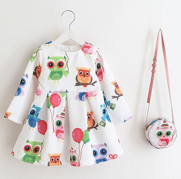 Owl Printed Dress