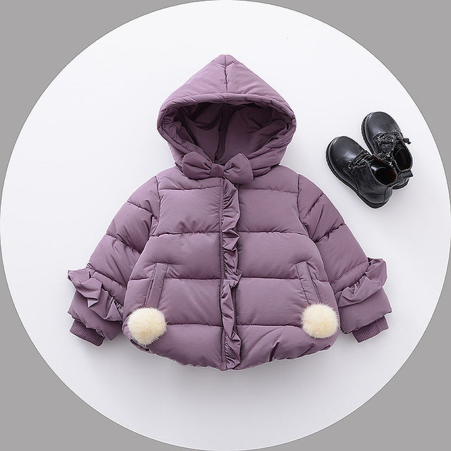 Baby Girl Winter Hooded Jacket