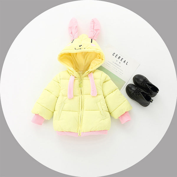 Cartoon Ear Hooded Jacket