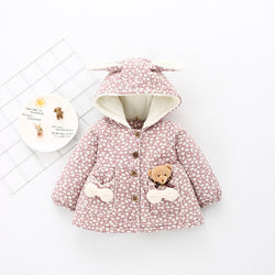 Flora Printed Bear Winter Jacket