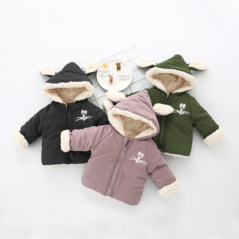 Ear Hooded Thick Winter Jacket