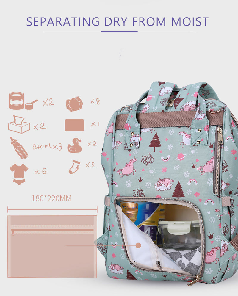 Printed Diaper Bag
