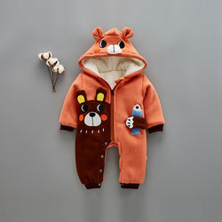 Bear and Fish Winter Romper
