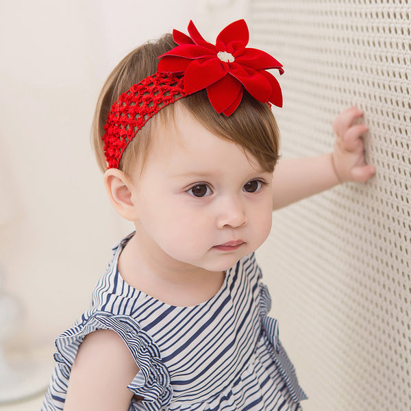 Hollow red Flower Headband