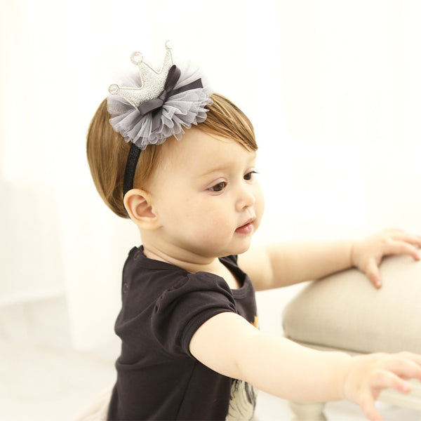 Grey Crown Headband