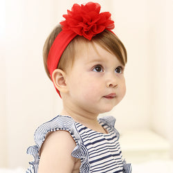 Red Lace Flower Headband