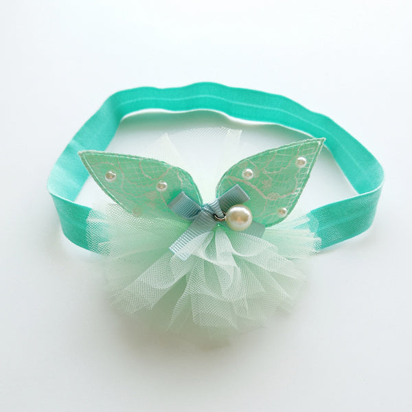 Green Rabbit Ear Headband