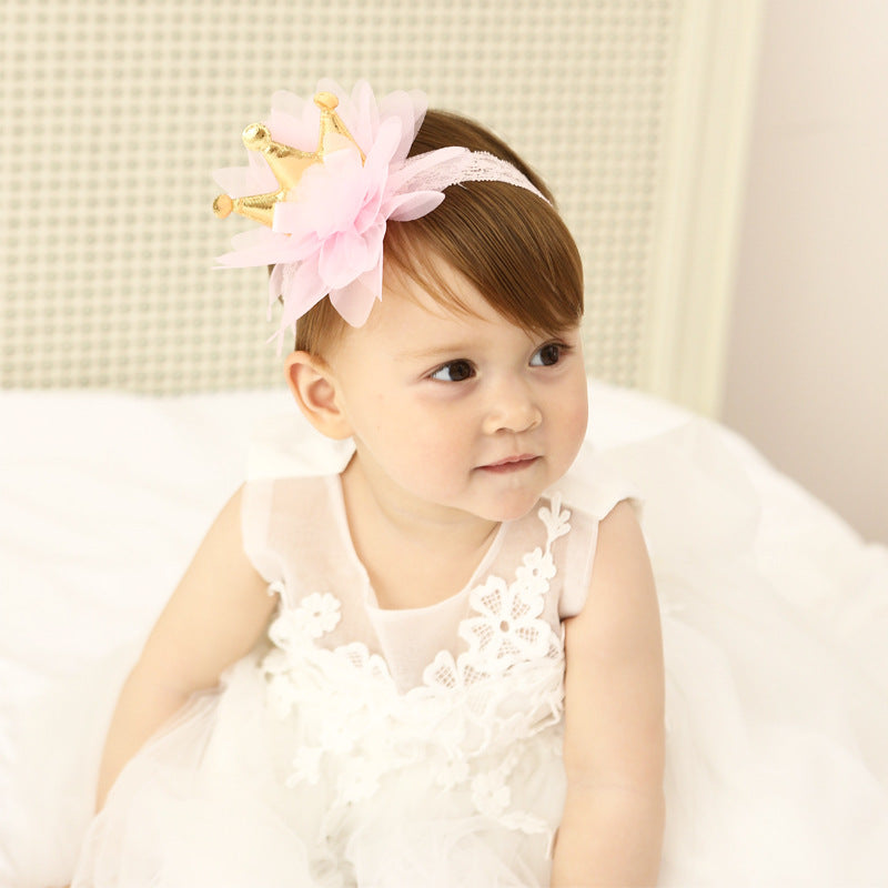 Crown Lace Flower Headband