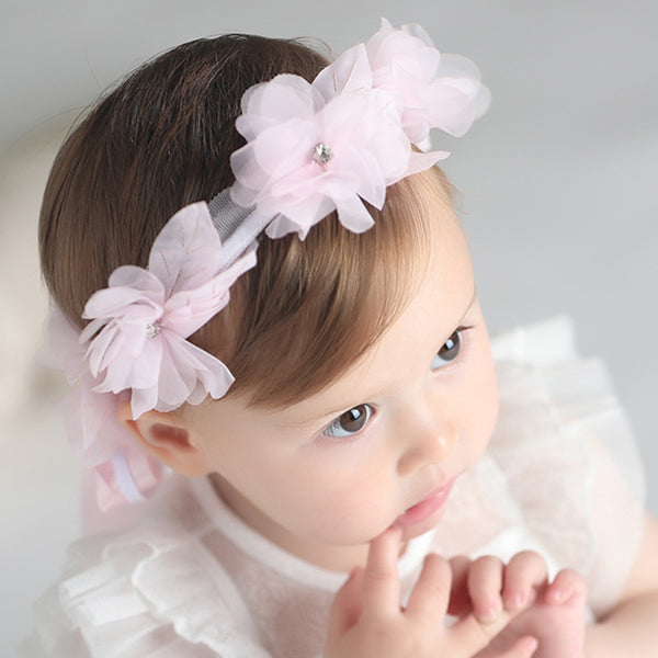 Exquisite Rhinestone Lace Flower Headband