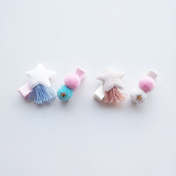 Star Tassel Hair Pins