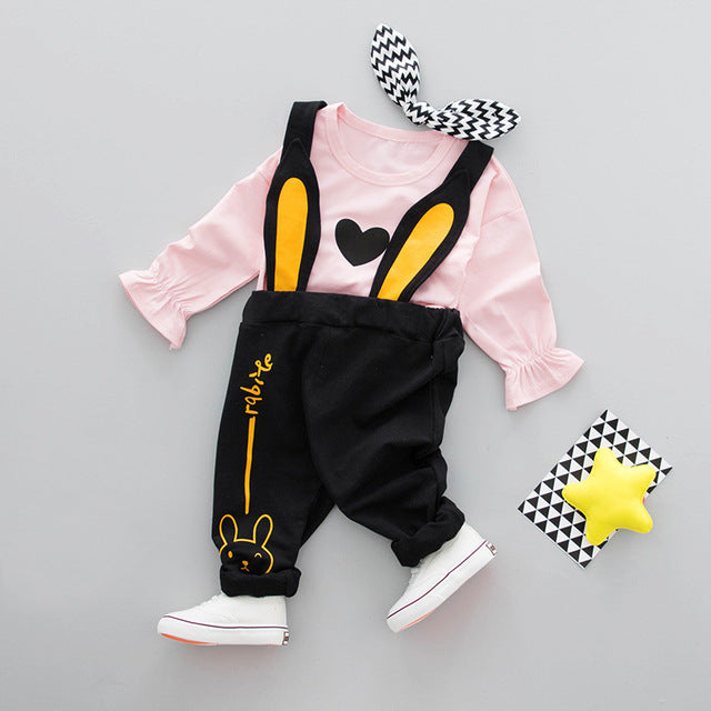 Rabbit Ear Overall Set