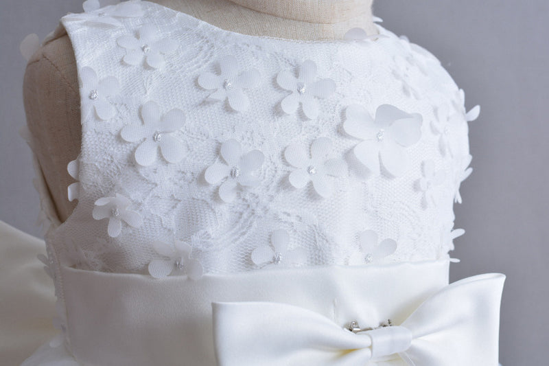 White Lace  Flower Dress