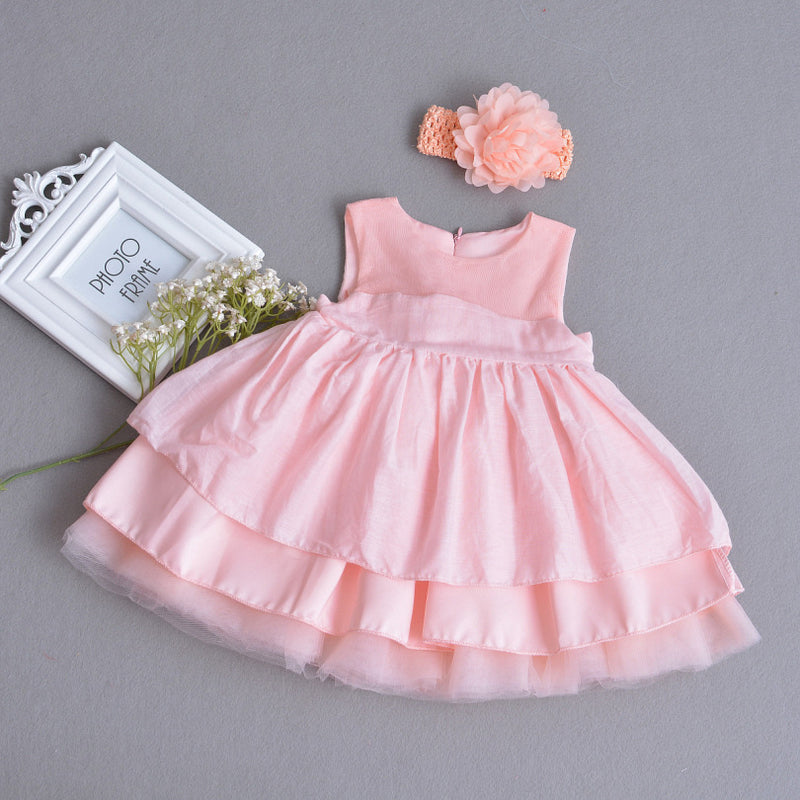 Beautiful Flower Sleeveless Gown with Headband