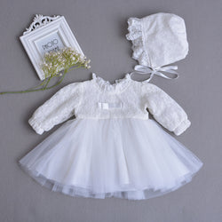 Long Sleeves Beautiful White Party Dress