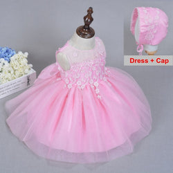 Flower Applique Baby Girl Dress