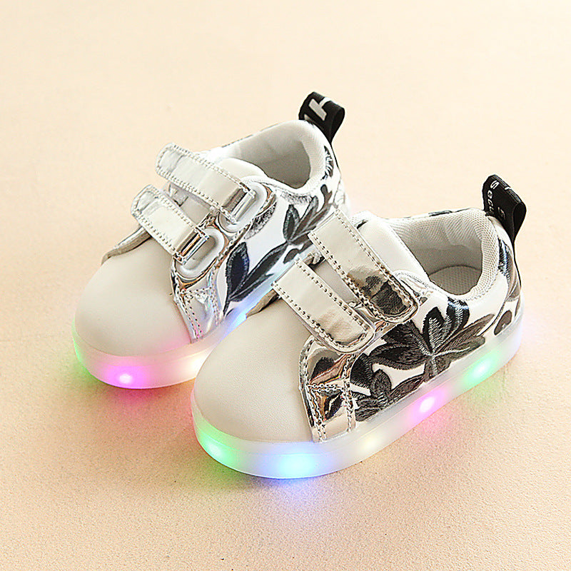 Floral LED Shoes for Kids