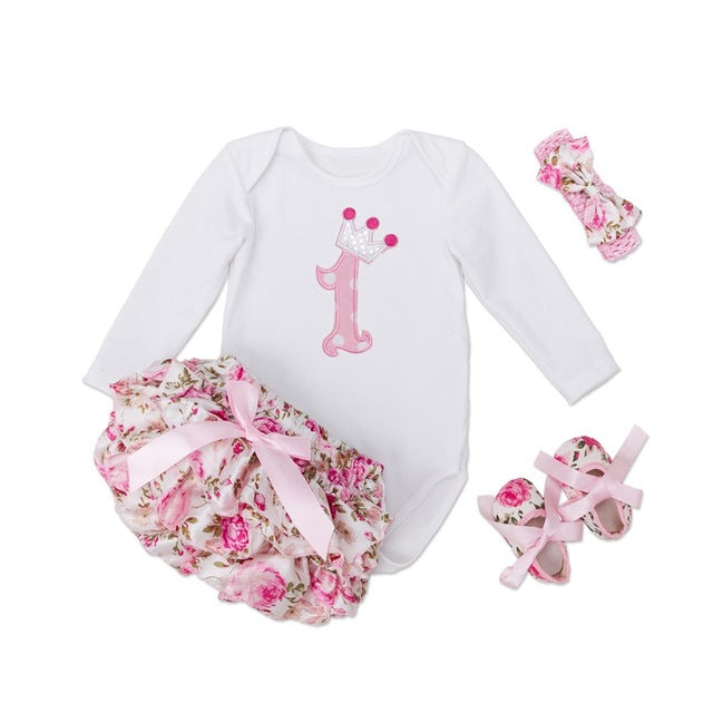 Floral Birthday Tutu Set