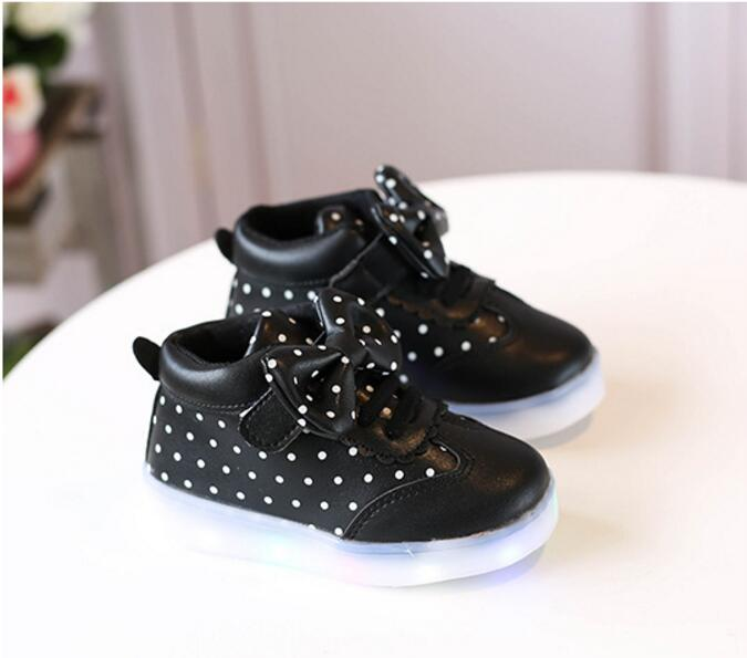 Bow Polka Dot LED Shoes