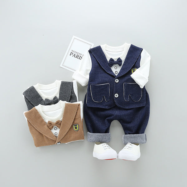 Gentleman Attached Vest Set