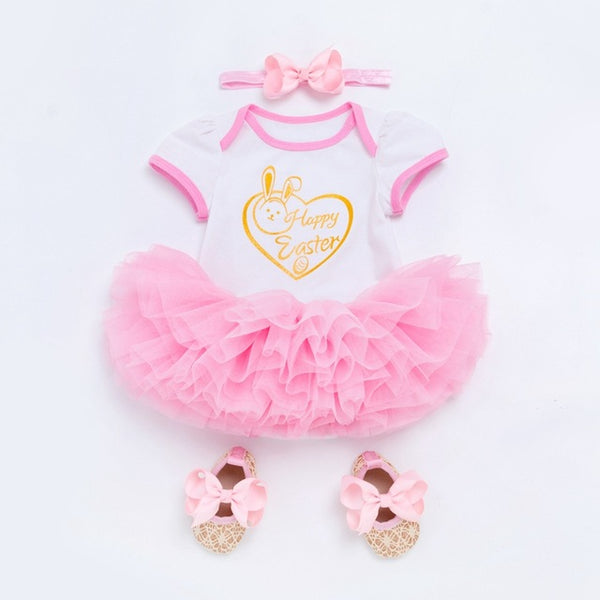 Happy Easter Tutu Dress for Baby Girls