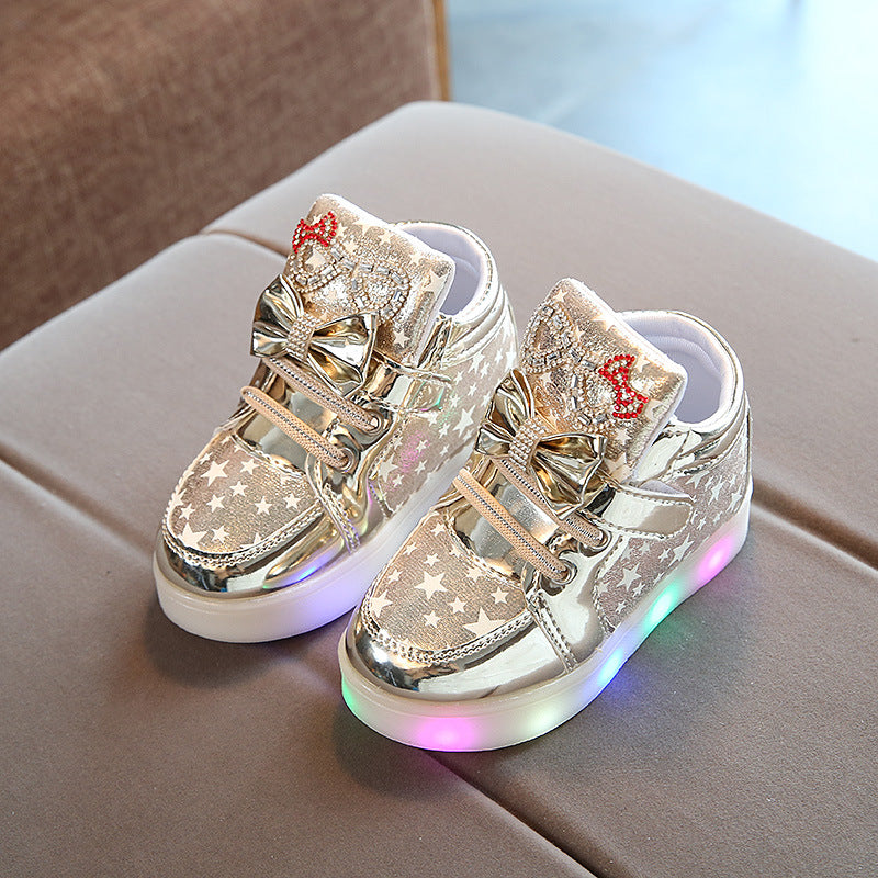 Hello Kitty Rhinestone LED Shoes for Baby Girls
