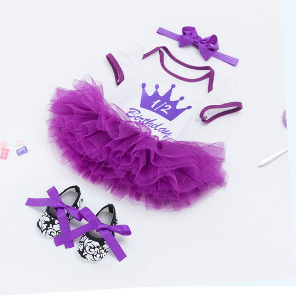 Half Birthday Tutu Dress for Girls