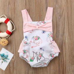 Summer Backless Romper For Baby Girls