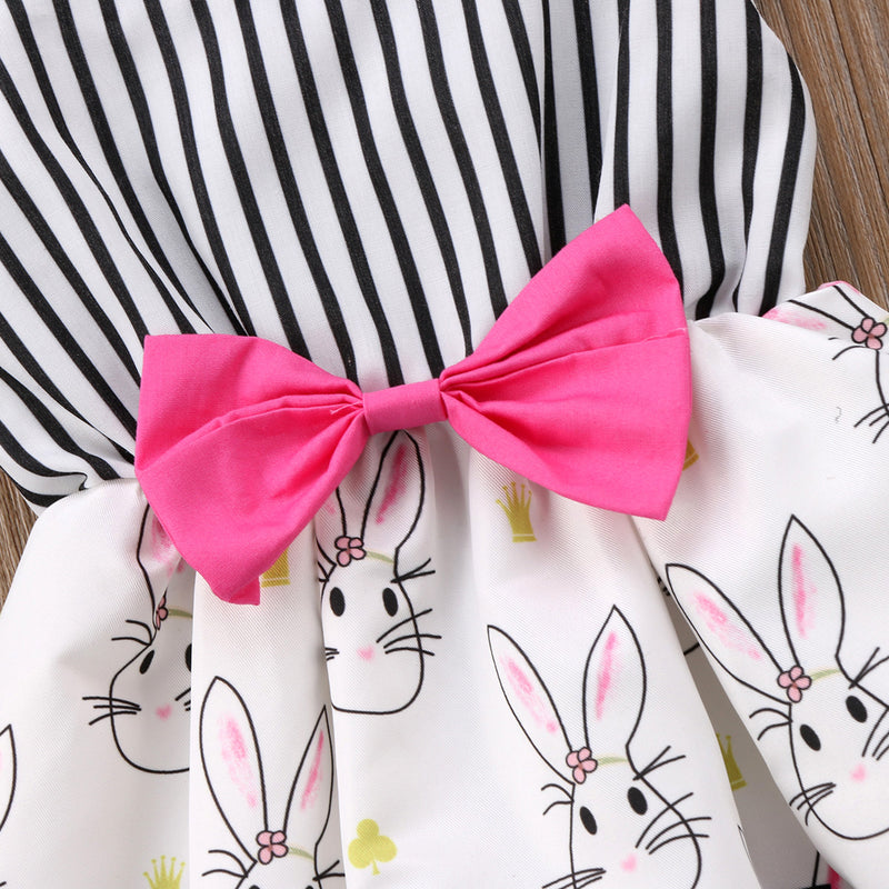 Baby Girls Bowknot  Bunny Romper