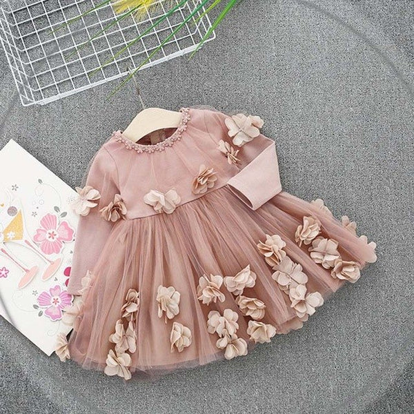 Flower Patchwork Mesh Party Dress