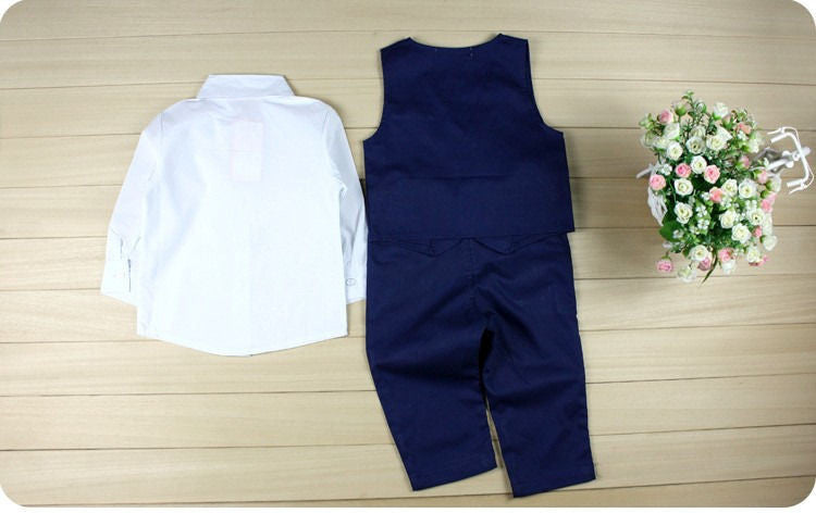 Formal Vest, Shirt, Tie and Pant Set - Baby Monk