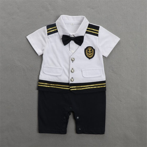 Navy Captain Gentleman Rompers