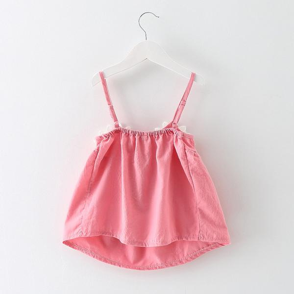 Strap Dress With Flowers For Baby Girls
