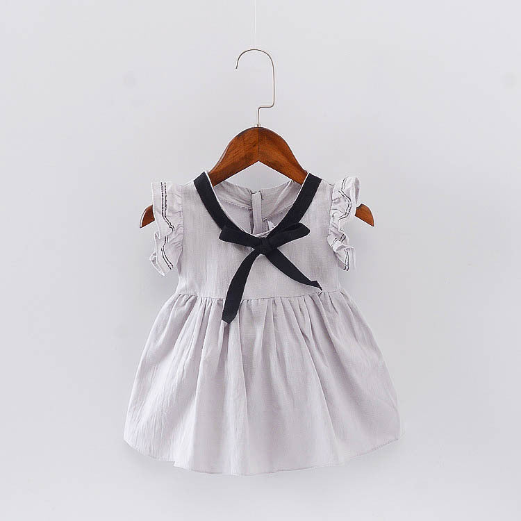 Sleeveless Summer Cotton Dress For Baby Girls