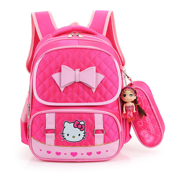 Bow Kitty School Bag