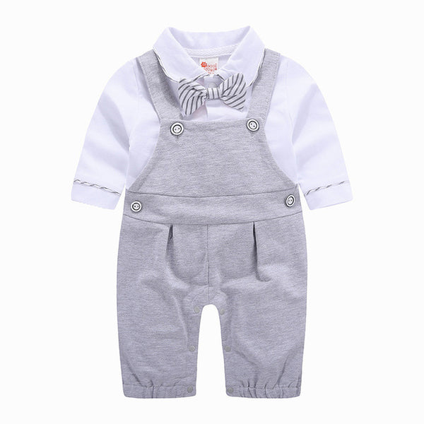 Dungaree Style Gentleman Rompers