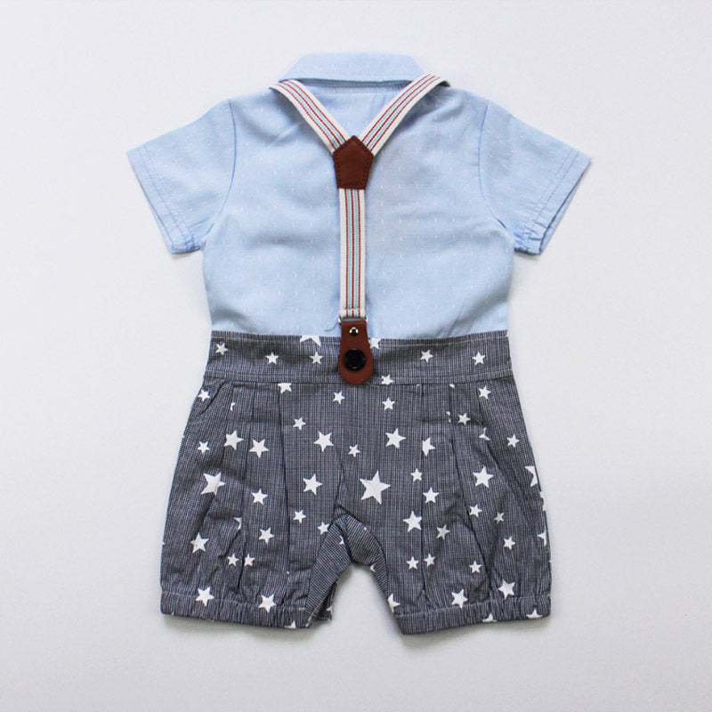 Star Gentleman Rompers With Bow