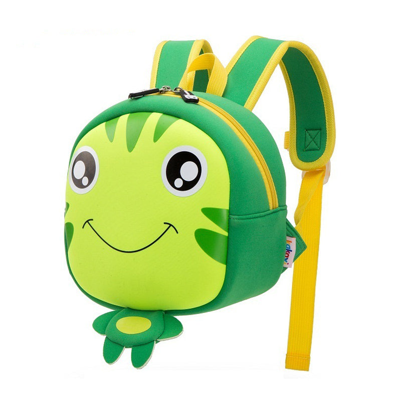Cartoon Eye Green School Bag