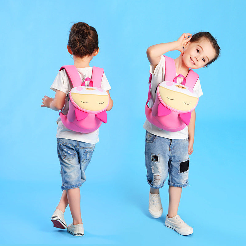 Pink Pig Waterproof School Bag