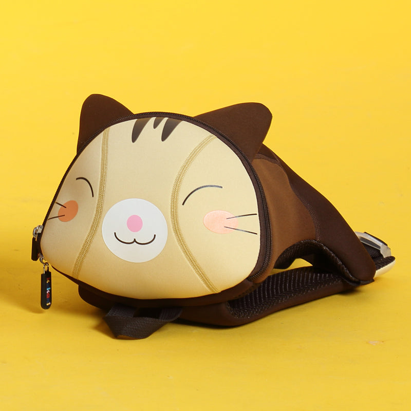 Cat Printed Waterproof School Bag