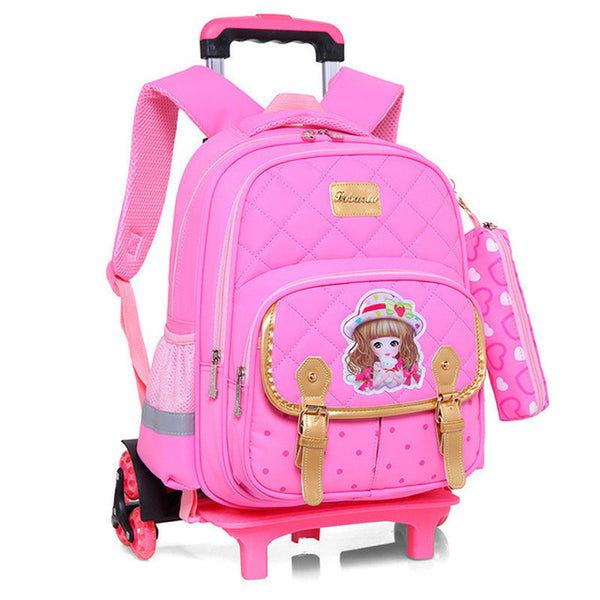 Princess Trolley School Bag