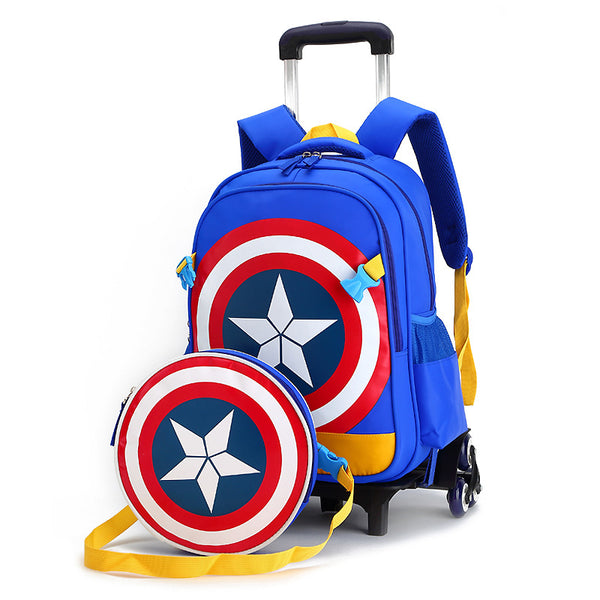 Captain America Trolley School Bag