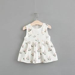 52a6aa07beaef Floral Printed Rabbit Ear Summer Dress For Baby Girls – Baby Monk