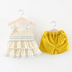 Polka Dot Top Plus Shorts Set For Summers
